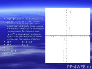 Функция у = х2n-1, где n принадлежит множеству целых положительных чисел. Степен
