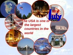 The USA is one of the largest countries in the worldlargestcountries in the worl