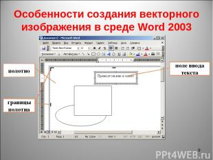 Особенности создания векторного изображения в среде Word 2003 * полотно границы