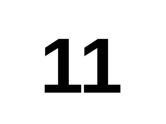 11 11.