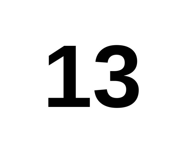 13 13.