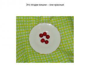 Это ягодки вишни – они красные