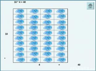 10 * 8 = 80 10 * 8 = 80 10 * 8 = 80. 10. *. 8. =. 80.