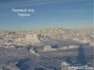 Айсберг Дрейфующий лед Паковый лед. Торосы