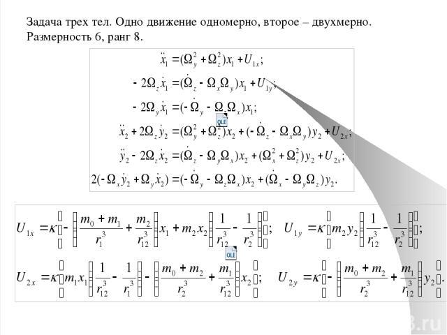 Точные решения в задаче многих тел, найденные в НПМ В задаче двух тел все решения аналитические. Дополнительно обнаружено решение в прецессирующей системе отсчета. Реальное подтверждение – прецессия Солнечной системы. Коллинеарные решения во вращающ…