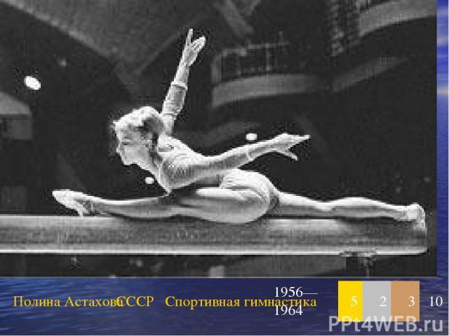 Полина Астахова СССР Спортивная гимнастика 1956—1964 5 2 3 10