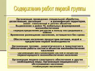 * Организация проведения специальной обработки, дезактивация, дегазация и дезинф