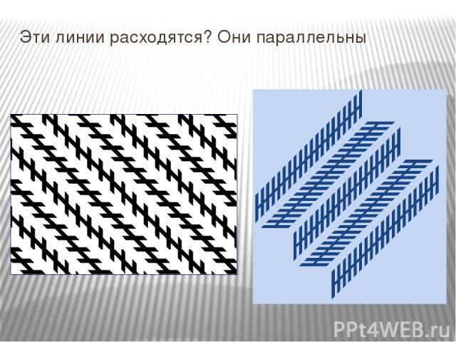 Эти линии расходятся? Они параллельны