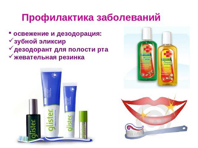 Профилактика заболеваний освежение и дезодорация: зубной эликсир дезодорант для полости рта жевательная резинка