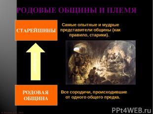 © Жадаев Д.Н., 2005 РОДОВЫЕ ОБЩИНЫ И ПЛЕМЯ Все сородичи, происходившие от одного