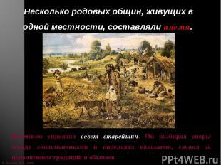 © Жадаев Д.Н., 2005 Несколько родовых общин, живущих в одной местности, составля