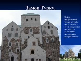 Замок Турку. Замок, превращенный теперь в музей, представляет в своей пристройке