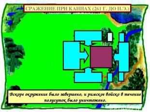 СРАЖЕНИЕ ПРИ КАННАХ (261 Г. ДО Н.Э.) Вскоре окружение было завершено, и римское