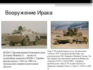 Вооружение Ирака БРДМ-2 (Бронированная Разведывательно-Дозорная Машина-2) — явля