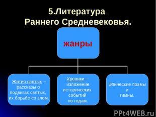 5.Литература Раннего Средневековья.