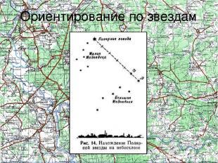 Ориентирование по звездам Полярная звезда всегда находится на севере. Ночью на б