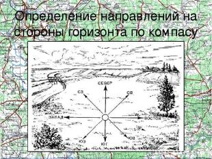 Определение направлений на стороны горизонта по компасу Определение направлений