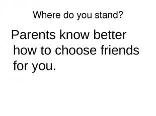 do parents know best
