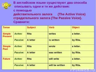 В английском языке существуют два способа описывать одни и те же действия: с пом