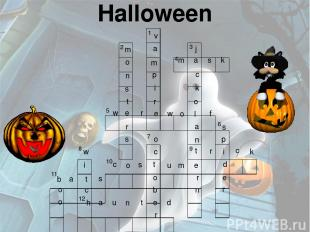 Halloween 2 1 3 4 6 9 7 10 8 11 12 5 m a s k w e r e w o l f t r i c k c o s t u