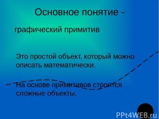 Основное понятие - Это простой объект, который можно описать математически. На о