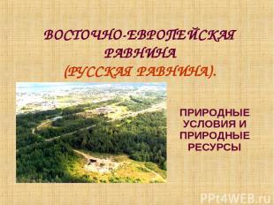 ВОСТОЧНО-ЕВРОПЕЙСКАЯ РАВНИНА (РУССКАЯ РАВНИНА). ПРИРОДНЫЕ УСЛОВИЯ И ПРИРОДНЫЕ РЕ