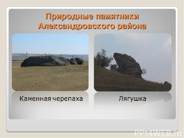 Природные памятники Александровского района