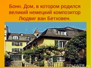 Бонн. Дом, в котором родился великий немецкий композитор Людвиг ван Бетховен.