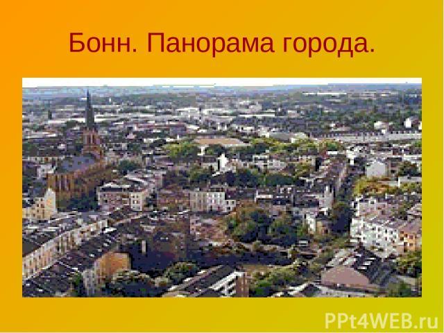Бонн. Панорама города.