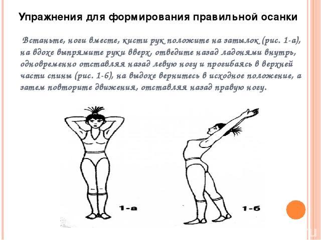 Упереться прямыми руками в пол. Выгнув спину, держаться так 5-7 с; прогнуться в пояснице, держаться 3-5 с.  Упереться прямыми руками в пол, отводить назад прямые ноги (поочередно) и голову, прогибаясь в пояснице СТОЯ НА КОЛЕНЯХ Упражнения для форми…