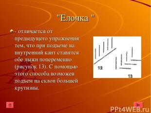"""""""Елочка """" - отличается от предыдущего упражнения тем, что при подъеме на внутрен"""