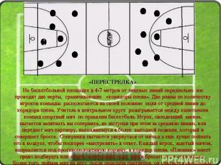 «ПЕРЕСТРЕЛКА» На баскетбольной площадке в 4-7 метров от лицевых линий параллельн