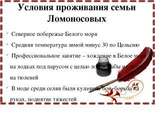Северное побережье Белого моря Средняя температура зимой минус 30 по Цельсию Про
