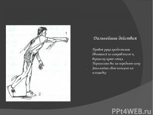 Выполнение Подбросьте мяч перед правым плечом Подбрасывая, не подкручивая его Мя