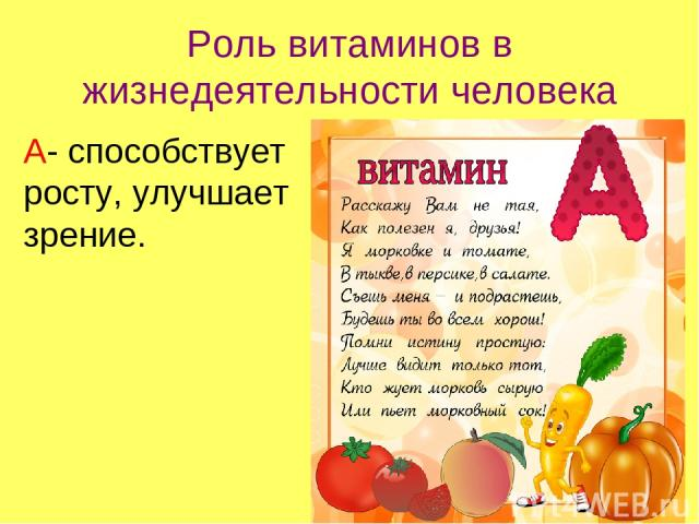 Какой витамин помогает росту человека