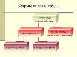 Формы оплаты труда Оплата труда наемных работников Заработная плата Взносы в фон