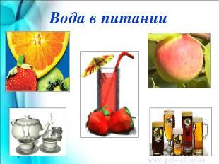 Вода в питании www.ppt4school.ru