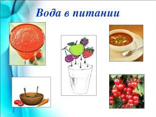 Вода в питании