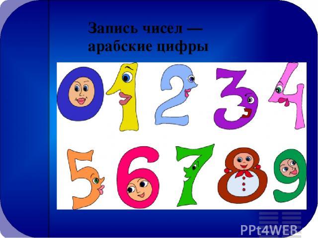 Запись чисел — арабские цифры