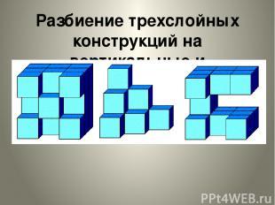 Разбиение трехслойных конструкций на вертикальные и горизонтальные слои