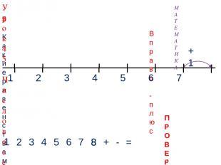 1 3 2 4 1 2 3 4 + - = 5. Какие равенства можно записать к рисункам? 5 Вправо - п