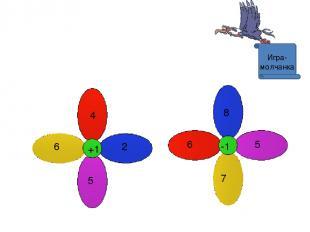 Игра- молчанка -1 6 5 8 7 +1 6 2 4 5