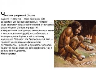 Челове к разу мный(Homo sapiens,читается— гомо сапиенс). (От современныхчел