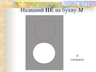 Названий НЕ на букву М 4 элемента