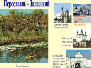 Церквь Петра Митрополита Ансамбль Троицко-Данилова монастыря Горицкий Успенский