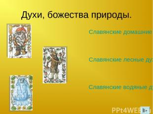 Духи, божества природы. Славянские водяные духи. Славянские домашние духи. Славя