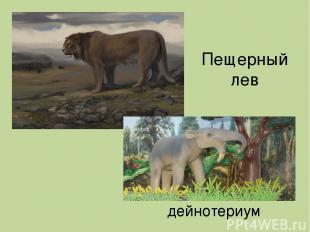 Пещерный лев дейнотериум