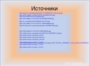 Источники http://s004.radikal.ru/i205/1003/76/1b5ef6b54973t.jpg http://cherrysai