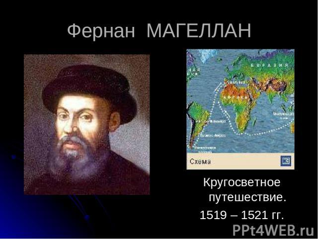 Фернан МАГЕЛЛАН Кругосветное путешествие. 1519 – 1521 гг.