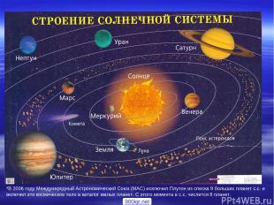 *В 2006 году Международный Астрономический Союз (МАС) исключил Плутон из списка